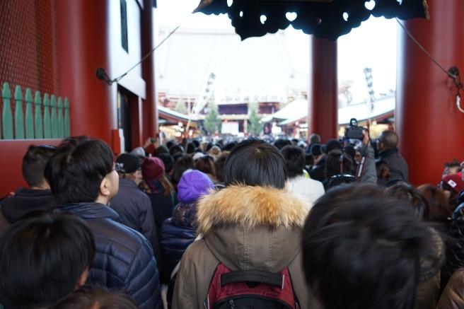 At the entrance of the Sensoji Temple in Asakusa, Tokyo